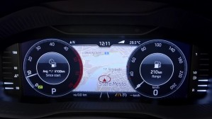 Skoda Karoq digital instrument panel