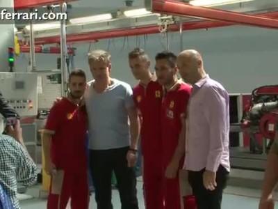 Gordon Ramsay visits Ferrari in Maranello.mp4