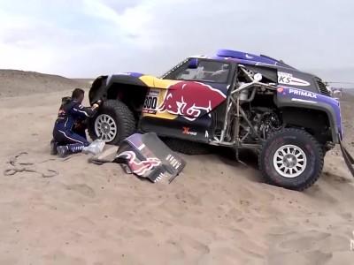 Ατύχημα του Carlos Sainz στο Rally Dakar - 2019