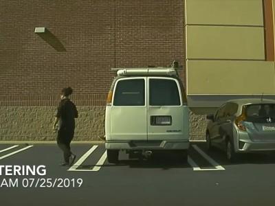 Άντρας χαράσσει αυτοκίνητο… γεμάτο από κάμερες (video)