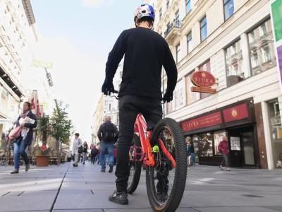 O Fabio Wibmer με το ποδήλατό του στην Αυστρία
