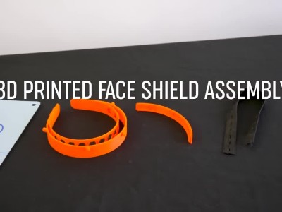 3D Printed Face Shield (RC1) - Assembly Guide