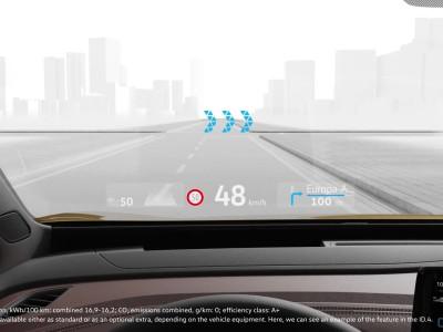Volkswagen Head-up display Επαυξημένης πραγματικότητας