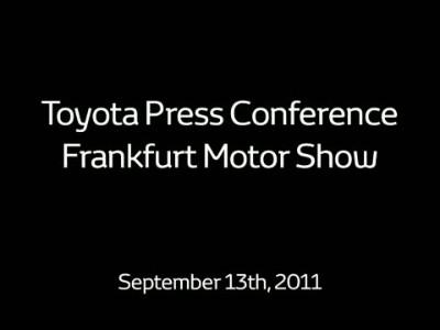 Toyota @ Έκθεση Φρανκφούρτης 2011