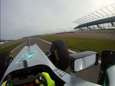 Nico Rosberg in the Driving Seat